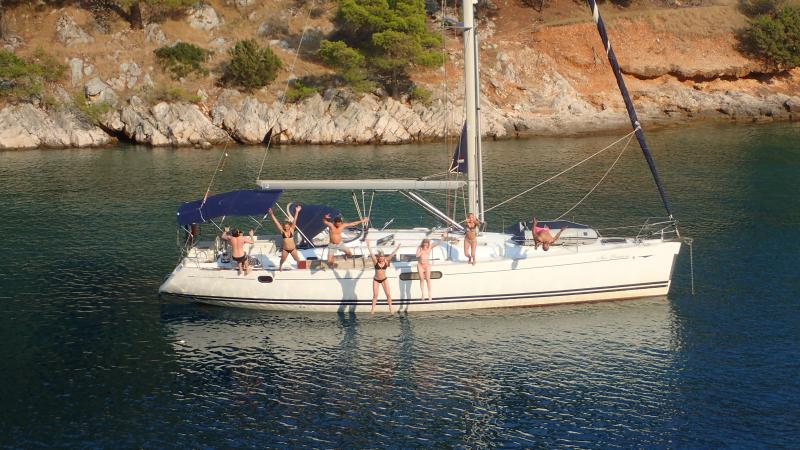Group fun on your private yacht