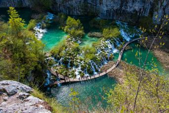 Day Tour Plitvice Lakes with one-way transfer Zagreb to Zadar (every second day)