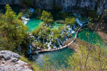 Day Tour Plitvice Lakes with one-way transfer Zadar to Zagreb (every second day)