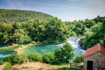 Day Tour to Krka Waterfalls and Sibenik from Split; return (full day)