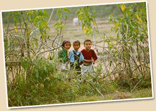 Tharu children