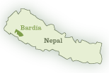 Map of Bardia National Park in Nepal