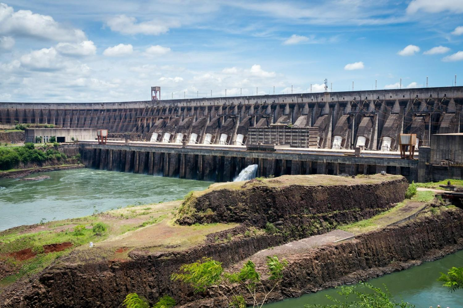 Check out the powerful Itaipu hydropower