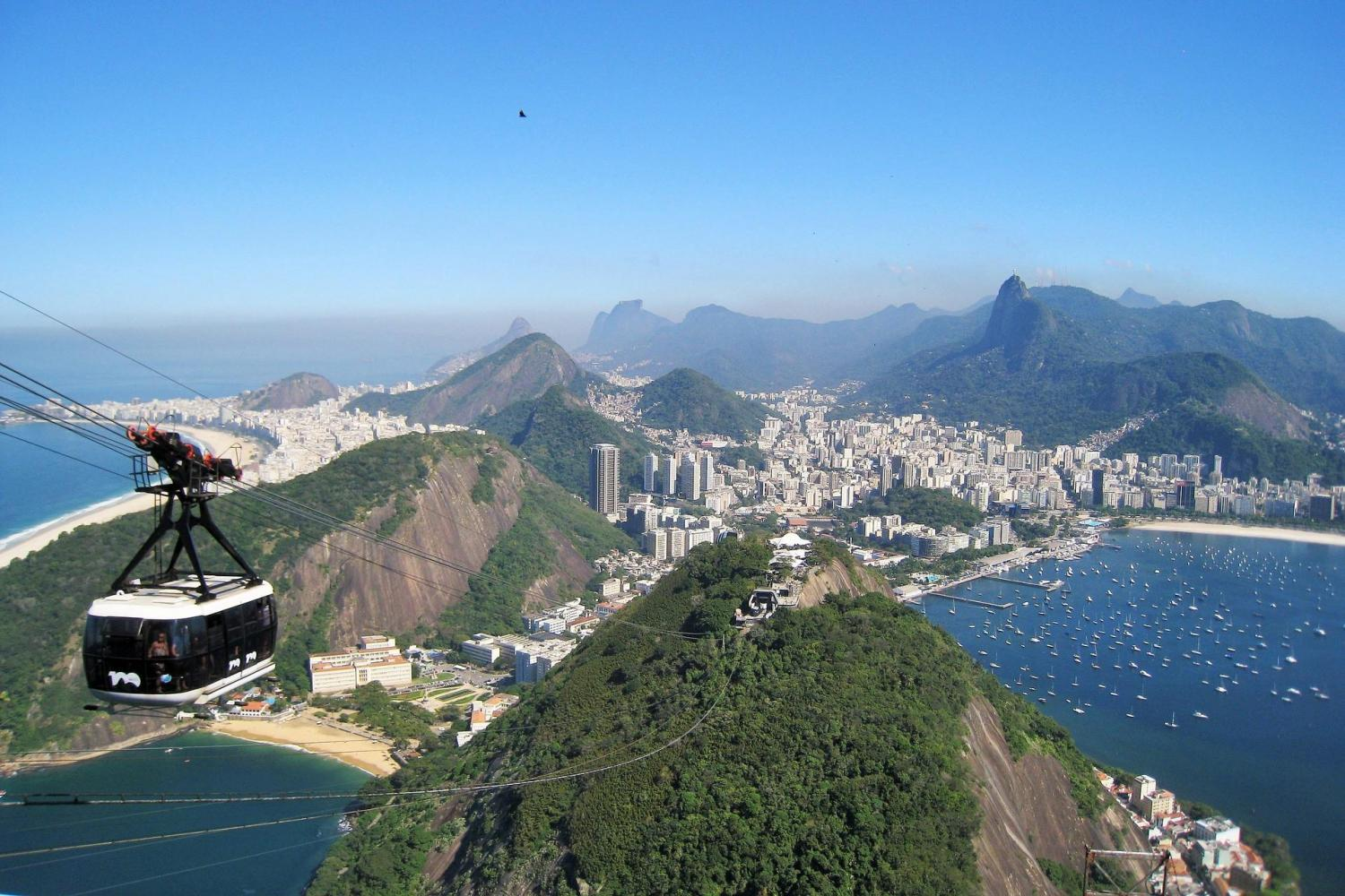 Ride a cable car to Morro de Urca and Sugar Loaf Mountain
