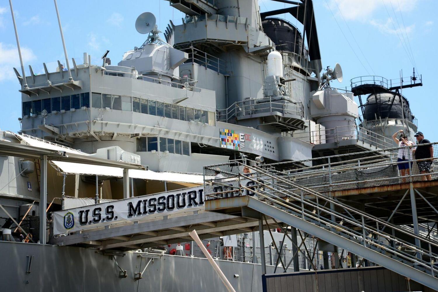 Visit an important piece of US history, the USS Missouri