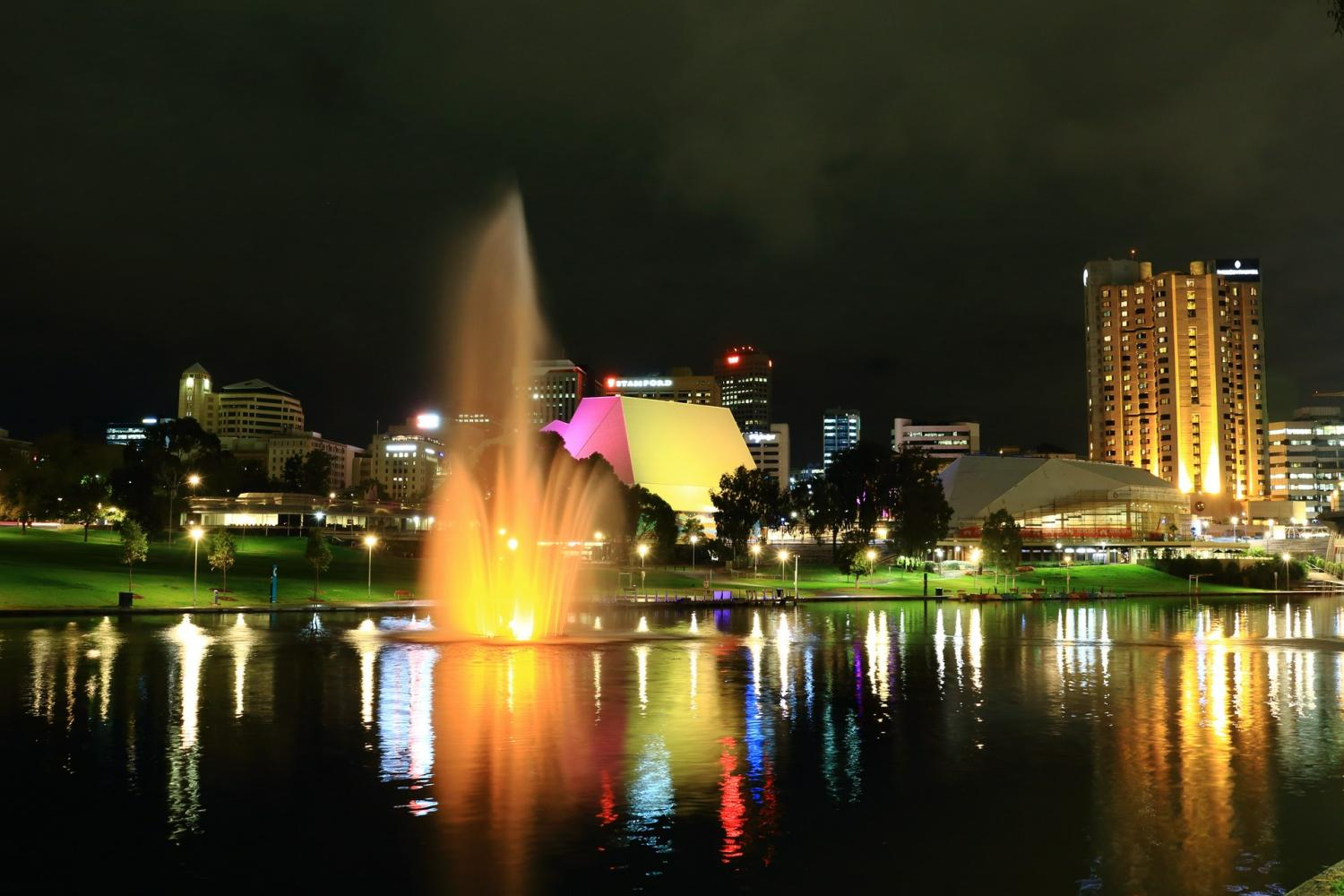 Enjoy views of the Adelaide skyline as you dine on a delightful three course dinner with a beverage