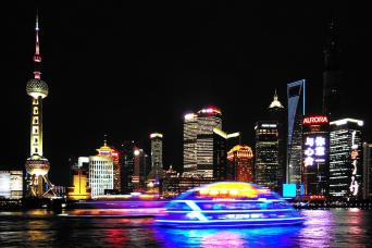 Gray Line Evening City Lights and Huangpu River Cruise: Group Tour