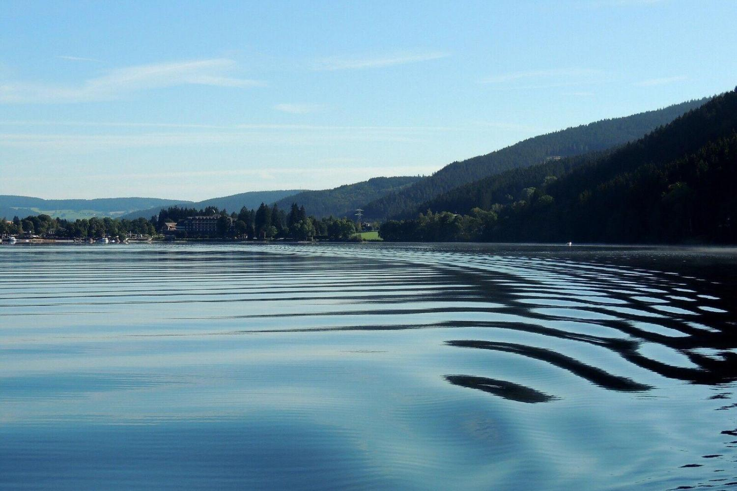 Enjoy the beautiful drive along Lake Schluchsee