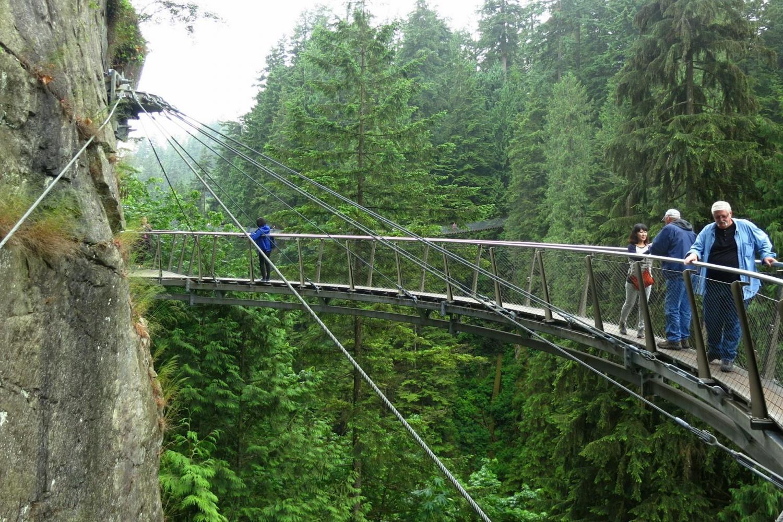 Experience the Cliff Walk at the Capilano Suspension Bridge