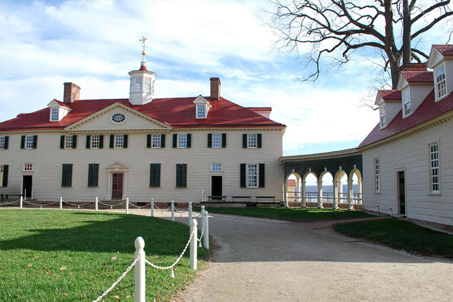 Explore the beautiful estate, farm, and yard of George Washington