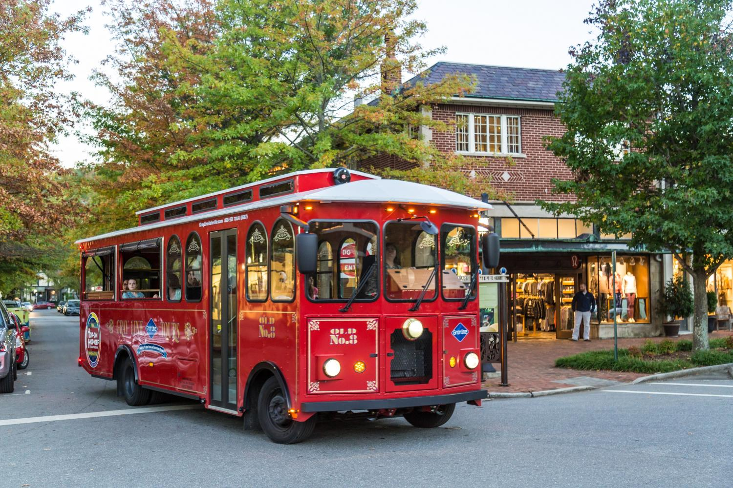 Discover the quaint city of Asheville by trolley