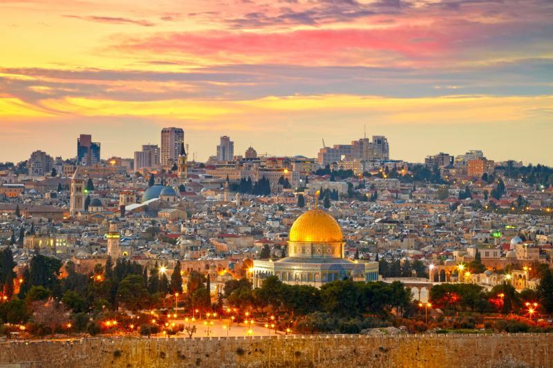Sunset over Jerusalem's Old City