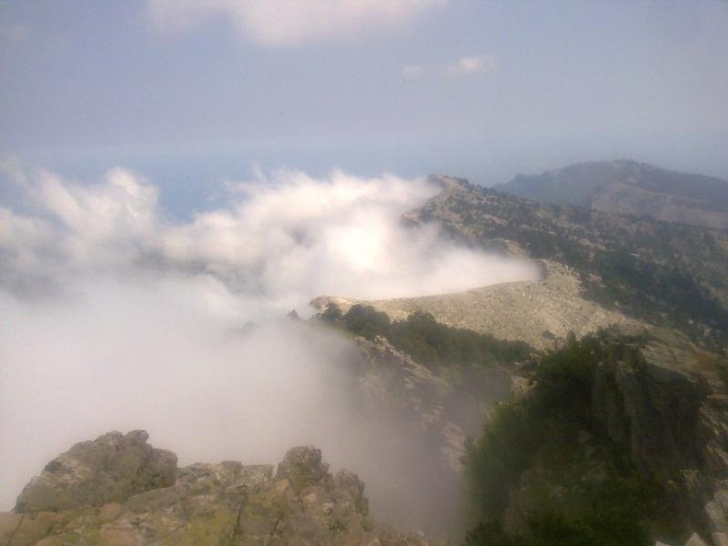 View from the top of Thassos