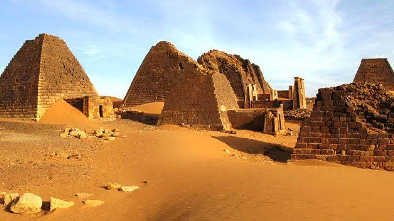 Ancient pyramids, Meroe, Sudan
