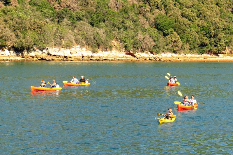 You will enjoy paddling along the bay