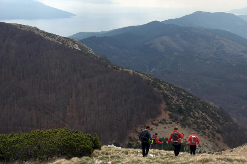Enjoy hiking/trekking on the top of Učka mountain with view of beautifull Kvarner