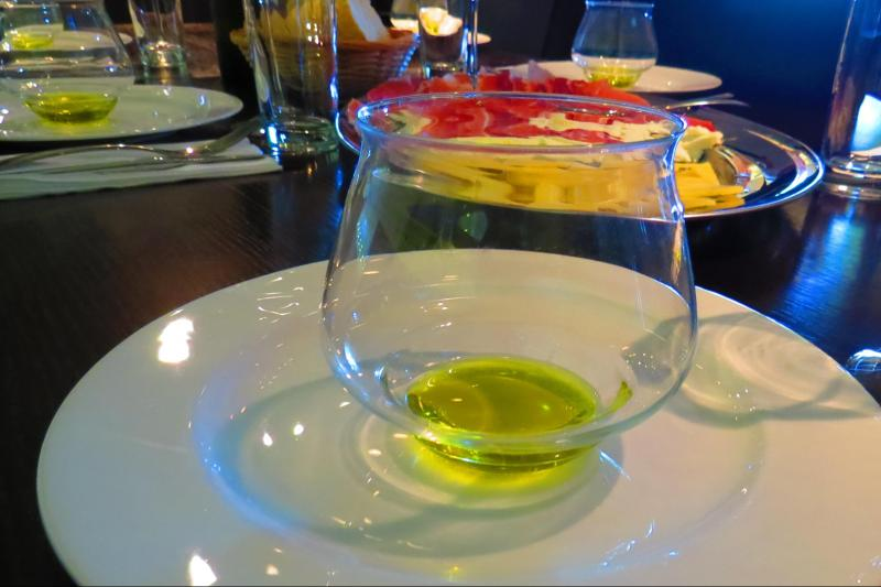 Olive oil tasting with local snack and wine
