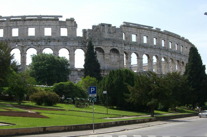 Amphitheater in Pula