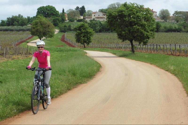 Cycling through the beautiful landscapes of Istria
