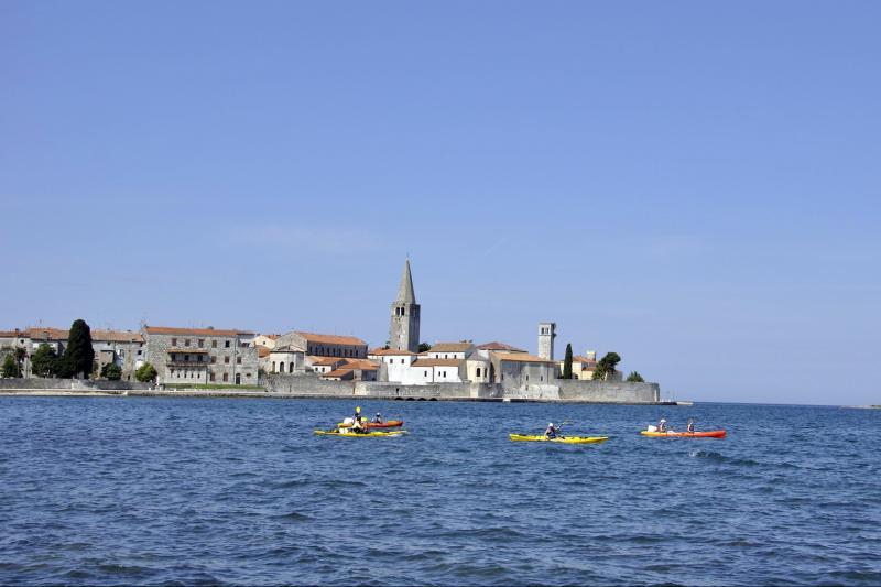 Seakayaking in warm waters of Adriatic