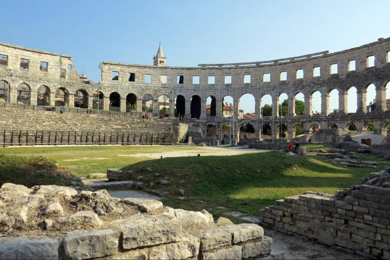Roman amphiteather in Pula from 1st century