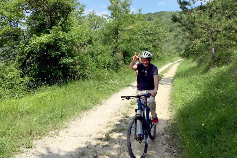 Mountainbiking along Parenzana trail