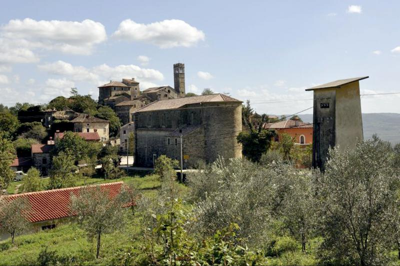 Laid on the hills, Istrian town are signposts to antique gallery
