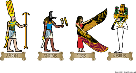Sample colour scheme for your Egyptian Gods