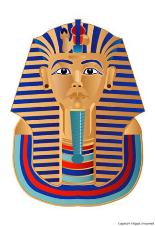 Sample colour scheme for your King Tut mask