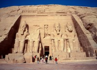 Temple to Ramses II at Abu Simbel
