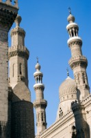 Mosque minarets in Cairo