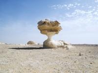 White desert rock formations