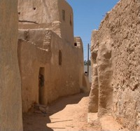 Narrow streets in Farafra Oasis
