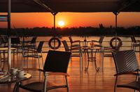 Sunset on board a Nile cruise boat, Egypt