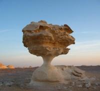 Spectacular rock formation in the White Desert, Egypt