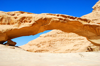 Rock arch in Wadi Rum