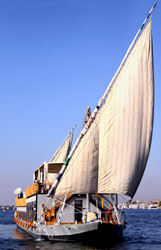 The Nile Spirit sailing on the River Nile, Egypt