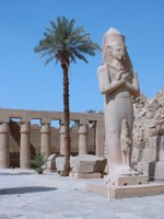 Statue at Karnak temple, Egypt