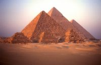 The Great Pyramids in Gisa, Egypt