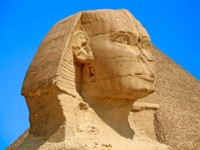 The Sphinx in Gisa, Egypt