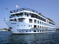 Deluxe cruise boat on the Nile, Egypt