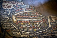 Byzantine mosaic in St. George's Church at Madaba, Jordan