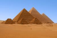 The Great Pyramids at Gisa, Egypt