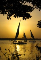 Felucca on the Nile at Aswan, Egypt