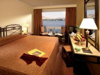 Bedroom on a Luxury Nile Cruiseboat, Egypt