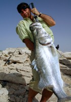 Nile Perch catch of a life time, Lake Nasser, Egypt