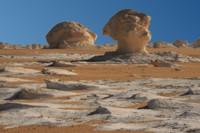 Strange rock formation in the White Desert, Egypt