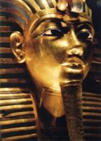 Golden mask on Tutenkhamun, Cario, Egypt