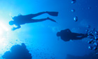 Divers in the Red Sea, Dahab, Egypt