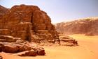 Desert scenery in Wadi Rum, Jordan